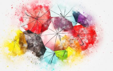 Nowoczesny wzór parasola